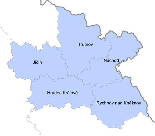 Mapa Kralovehradecky Kraj Mapa